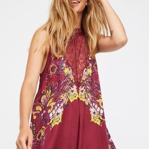 Free People Lace Floral Mini Dress